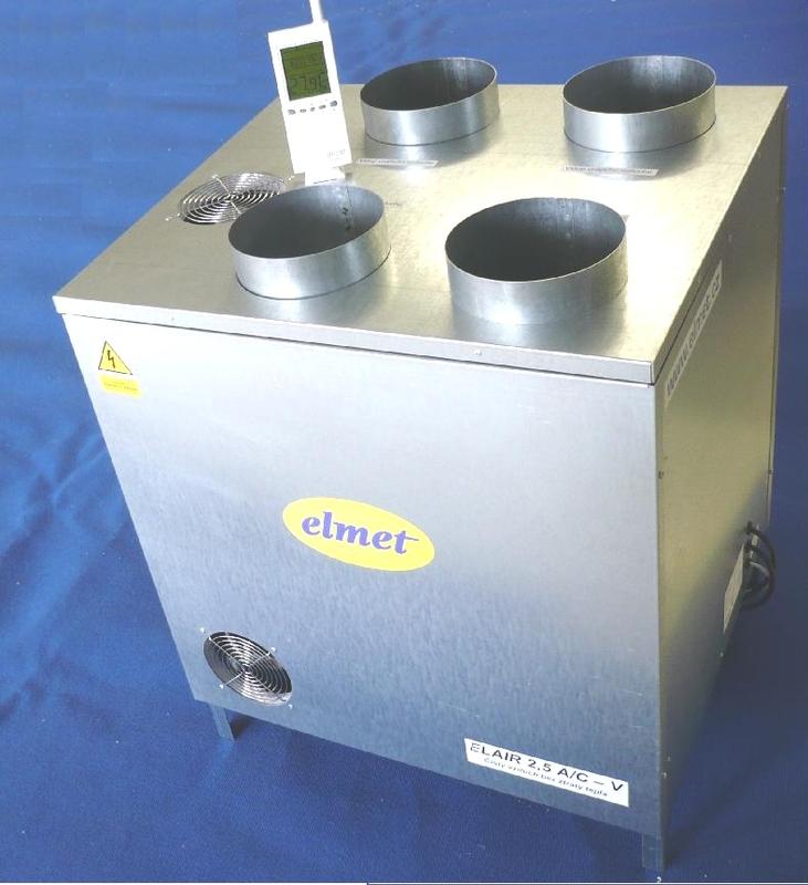 Rekuperační jednotky - ELAIR 2,5 AC-VM/D - větrací klimatizační jednotka - návrh větrání zdarma