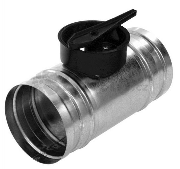 Rozvody vzduchu - Regulační klapka KSP s ručním ovládáním (125,160)
