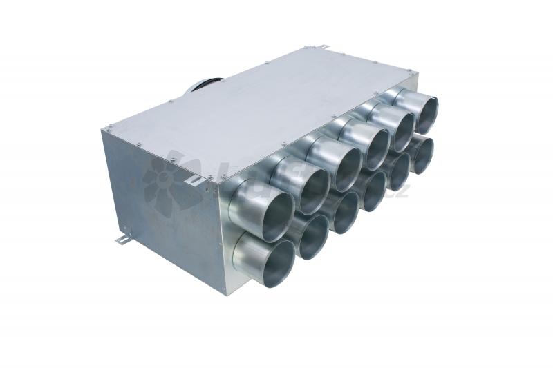 Rozvody vzduchu - MAT distribuční box přímý 2x6x75-160