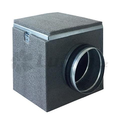 Rozvody vzduchu - Filtrační izolovaný box MFLU s uhlíkovým filtrem (125, 150, 160, 200)
