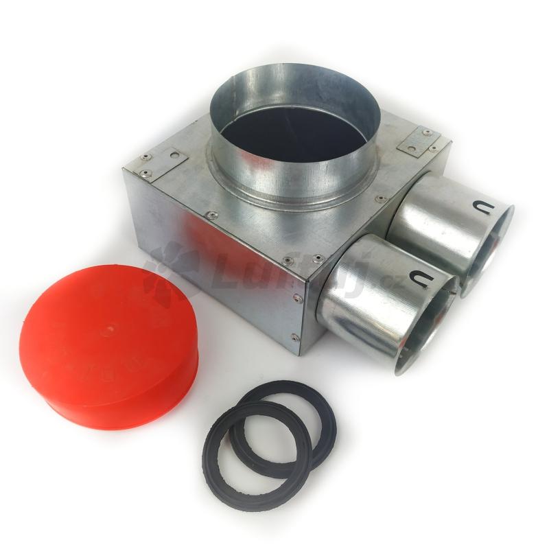 Rozvody vzduchu - Stropní box nízký LUFTUJ 2x75 s antibakteriální hlukovou izolací