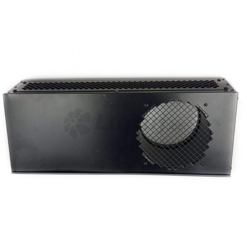 Mřížky a vyústky - Kombinovaná fasádní mřížka ODB v černé barvě