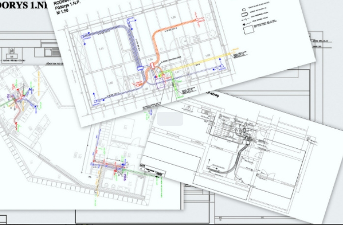 Služby (montáž, ...) - Projekt vzduchotechniky (větrání s rekuperací)