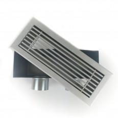 Podlahová mřížka PME 300x100 v setu s boxem 2x90mm