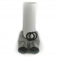 Stropní box nízký 125-2x90 s antibakteriální hlukovou izolací a prodloužením