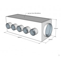 ALPOX ATYP rozdělovací izolovaný box pro rekuperaci - zakázková výroba