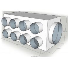 """Rozváděcí box z pozinkové oceli """"na míru"""" 90mm - ATYP"""