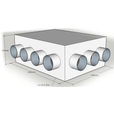 """Rozváděcí box z pozinkové oceli """"na míru"""" 75mm - ATYP"""
