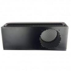 Kombinovaná fasádní mřížka ODB v černé barvě