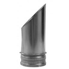 Výfukový šikmý kus VKF s ochrannou mřížkou (100, 125, 150, 160, 200)