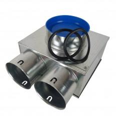 Stropní box nízký 125-2x90 s antibakteriální hlukovou izolací