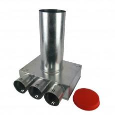 Box stropní/stěnový pro ventil 125 mm s izolací KLO 3x75 mm -125